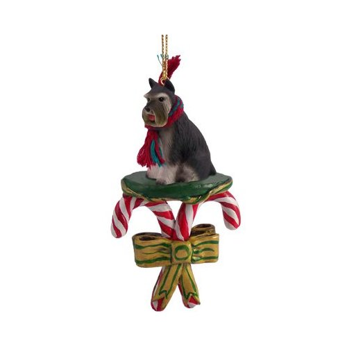 SCHNAUZER (Gray) Dog New CANDY CANE Christmas Ornament DCC13B
