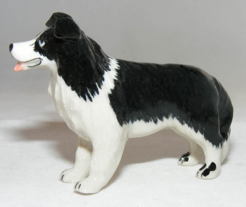 BORDER COLLIE Dog Stands MINIATURE New PORCELAIN Figurine KLIMA K164B