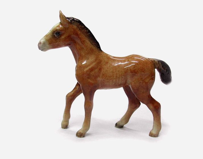 HORSE BAY FOAL Stands MINIATURE Porcelain NORTHERN ROSE New R236