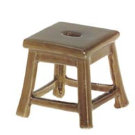STOOL 1 inch SQUARE Small Dollhouse Furniture MINIATURE Porcelain KLIMA K145
