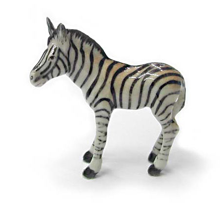 ZEBRA Baby stands New MINIATURE Porcelain NORTHERN ROSE R113