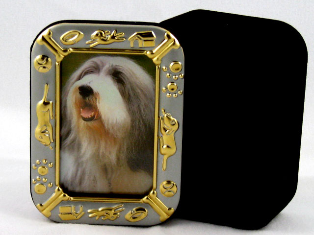 BEARDED COLLIE Dog Framed Trinket Box New 003