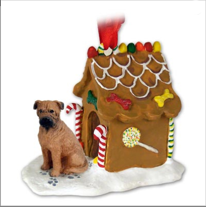BULLMASTIFF Dog GINGERBREAD HOUSE Christmas Ornament Resin 88