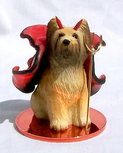 BRIARD Dog MINIATURE DEVIL Christmas Ornament new DTD126