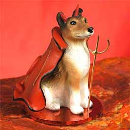 COLLIE Dog Smooth MINIATURE DEVIL CHRISTMAS Ornament new DTD118